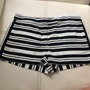 Tibi Black and White Shorts